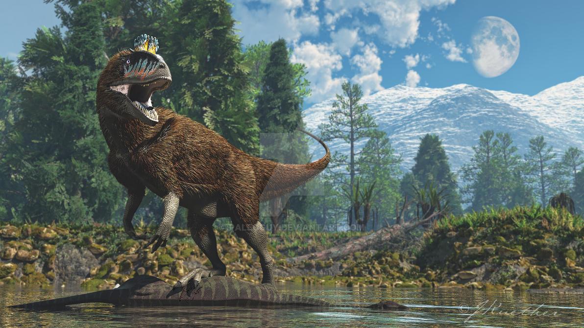 Cryolophosaurus by PaleoGuy