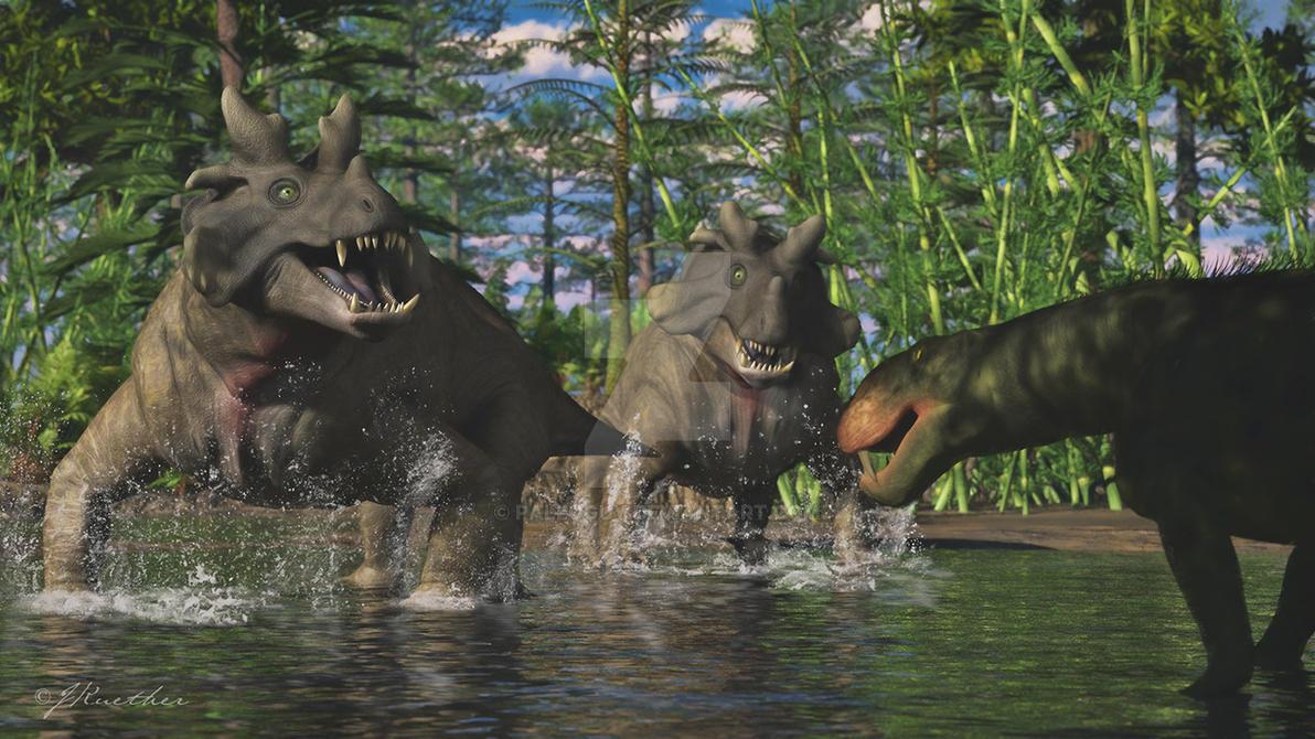 Estemmenosuchus, Eotitanosuchus by PaleoGuy