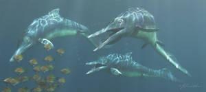 Mixosaurus by PaleoGuy