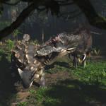 Ankylosaurus and Tyrannosaurus