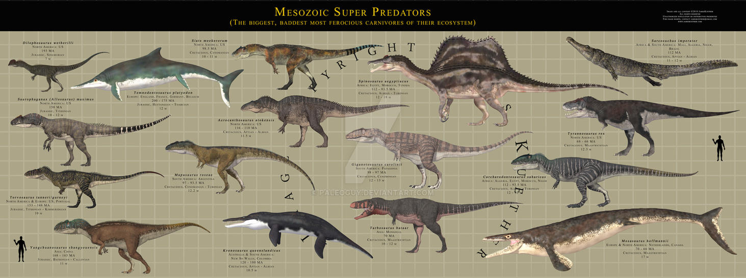 Prehistoric Super Predators by PaleoGuy