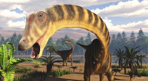 Diplodocus by PaleoGuy