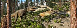 Allosaurus in the Pines