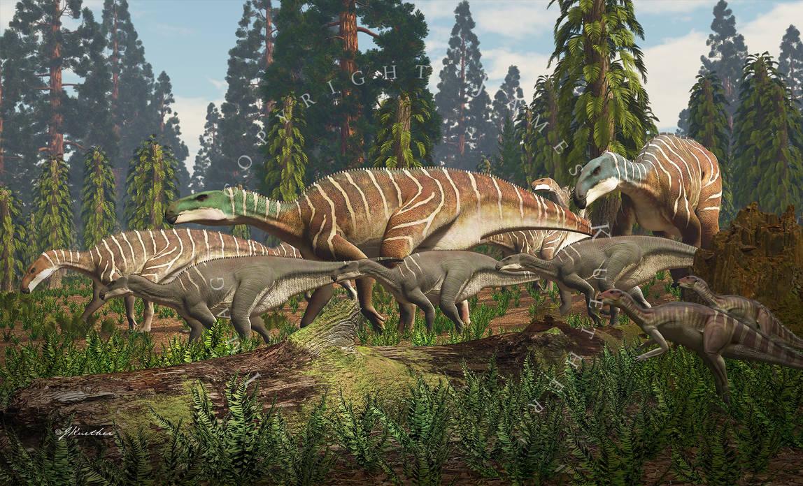Iguanodon and Hypsilophodon