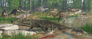 Life on Earth: Elrhaz Formation: Cretaceous/Aptian