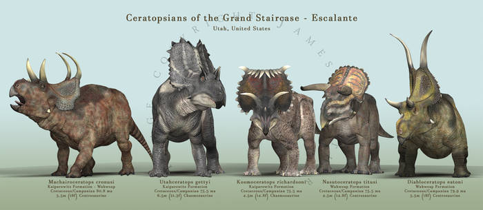 Ceratopsians of the Grand Staircase - Escalante