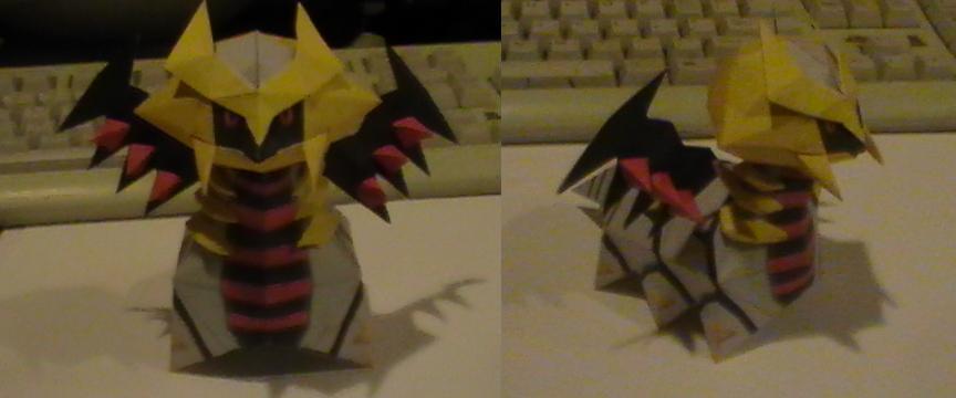Chibi Giratina papercraft by NinjaKirby144