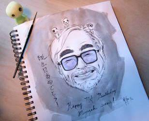 Happy 71st Miyazaki sensei by MHSU