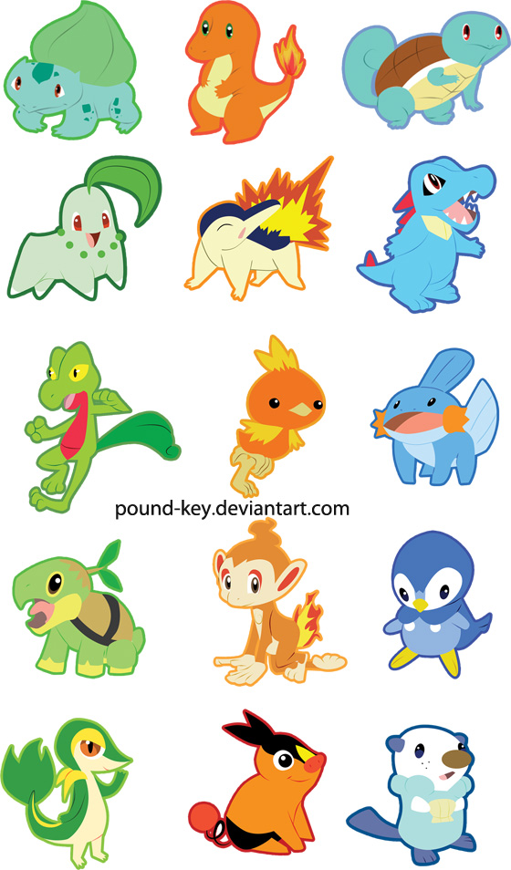 Pokemon designs by pound-key
