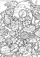 Sweet Doodle Colouring page by pound-key