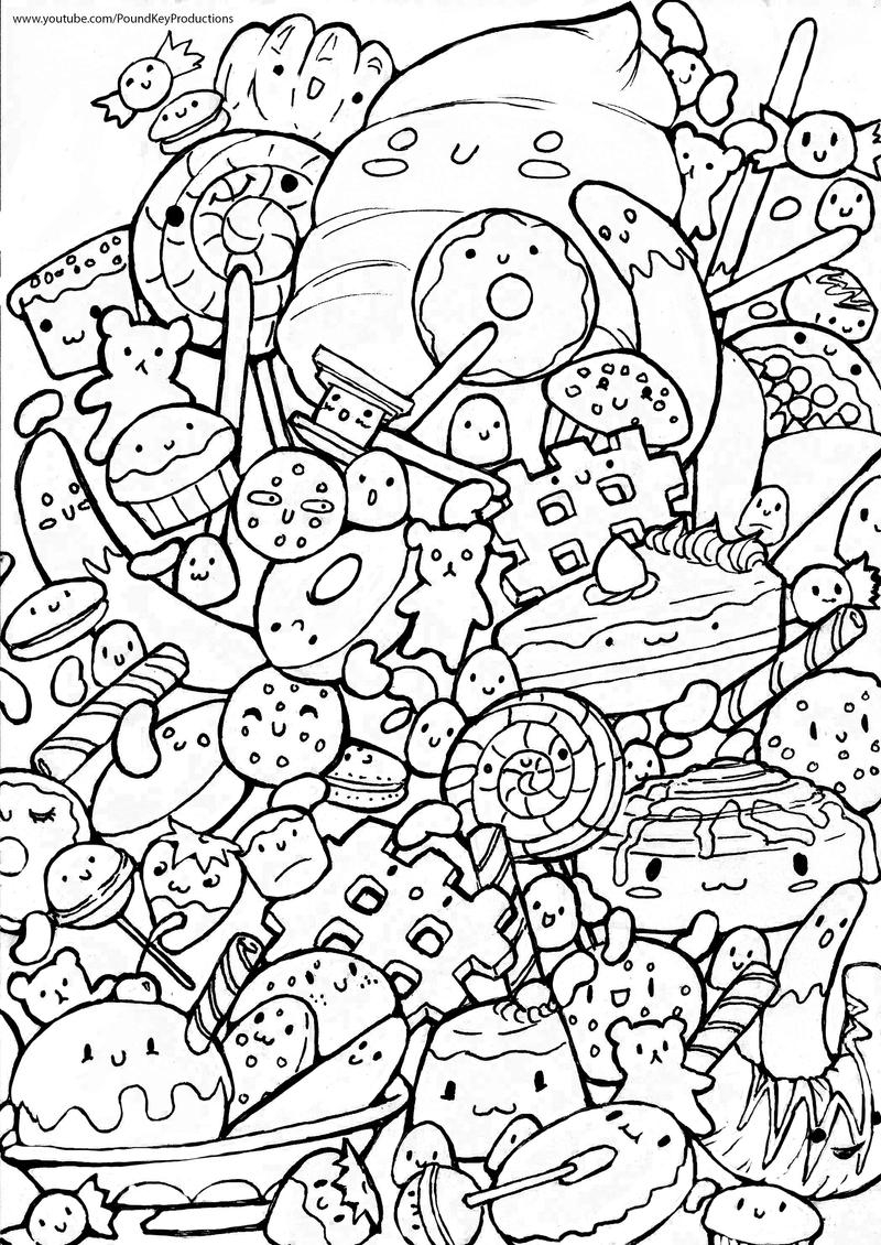 Sweet Doodle Colouring page by pound-key on DeviantArt