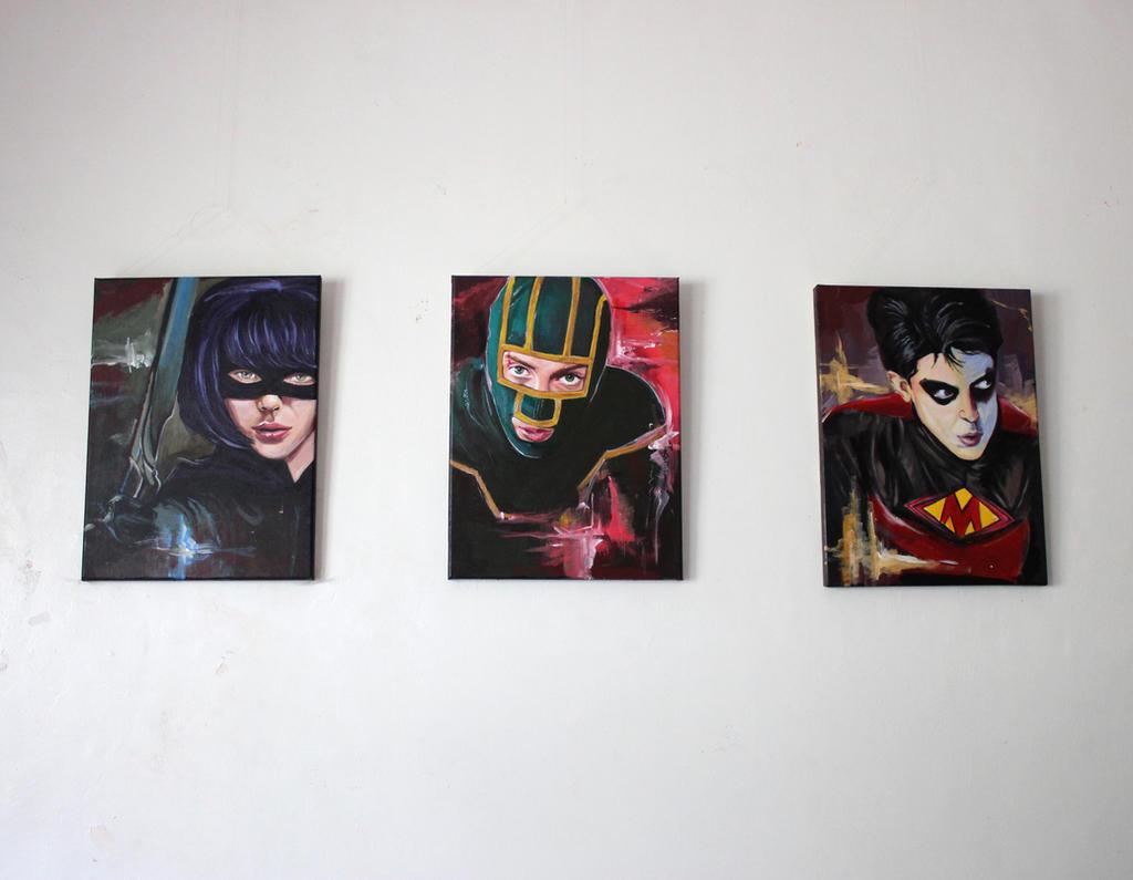 Kick Ass paintings by Gothvm