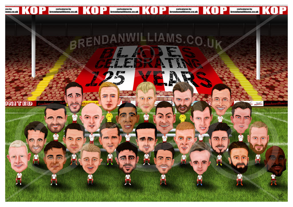 Sheffield United Squad Caricature By Brendanwilliams On