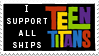 Teen Titans ships stamp by jennasthings