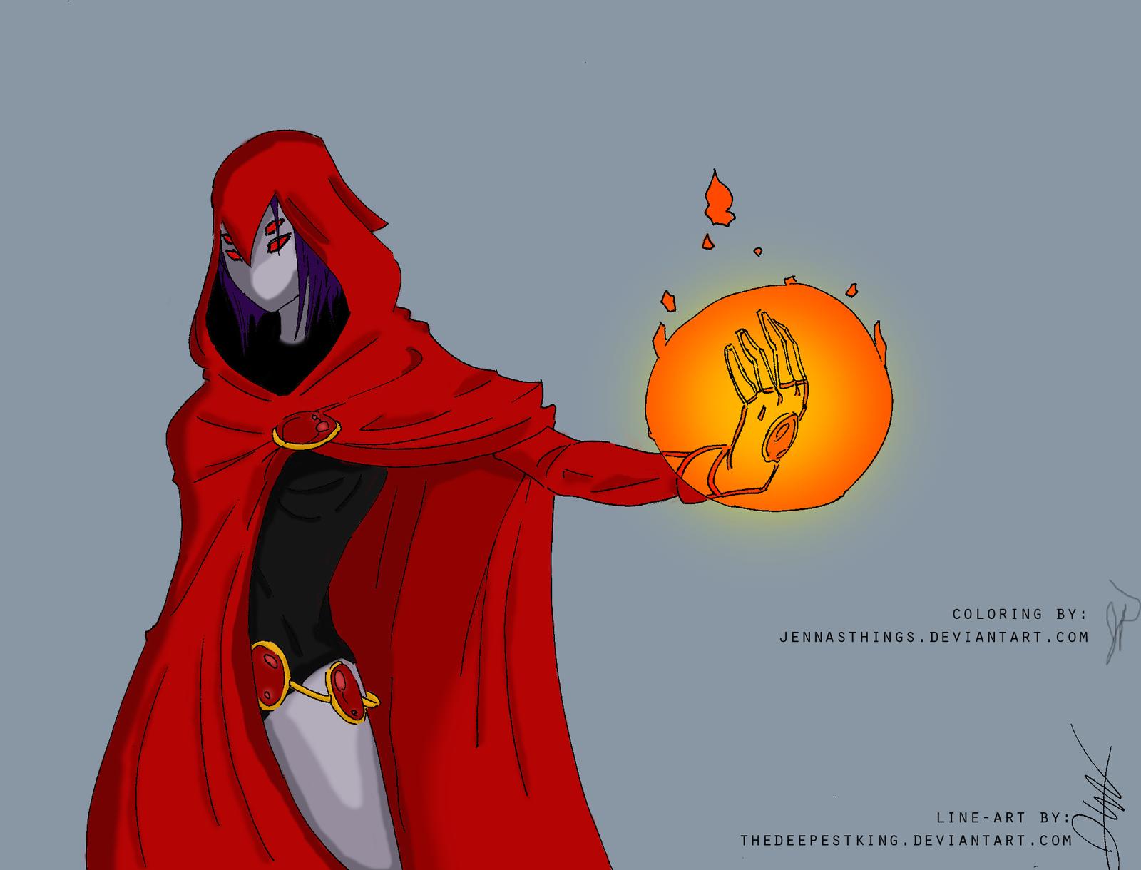 Raven's demonic side by jennasthings