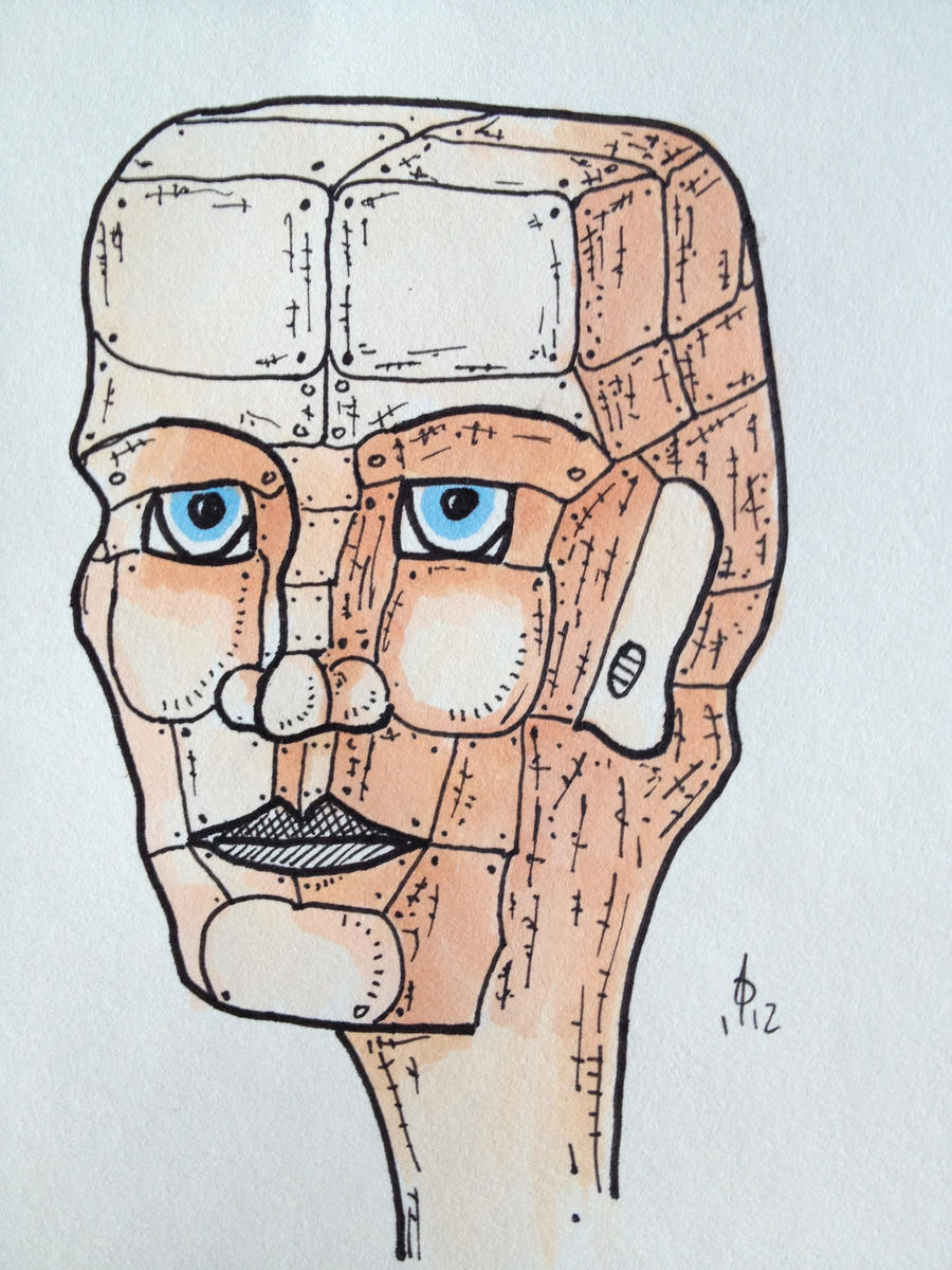 woman man human robot cyborg model horror thing by Tobobobo
