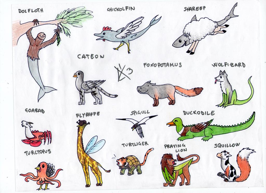 Mixed animals adopts [open] by justrainbowf on DeviantArt