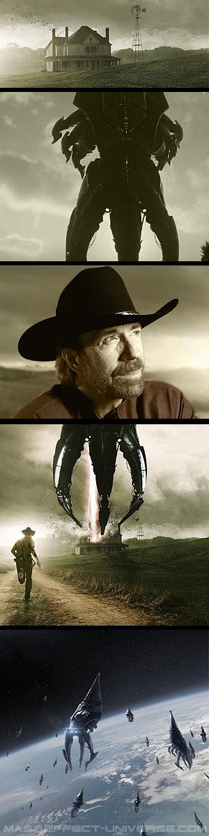 Mass Effect 3: DLC Chuck Norris by meu-iskander
