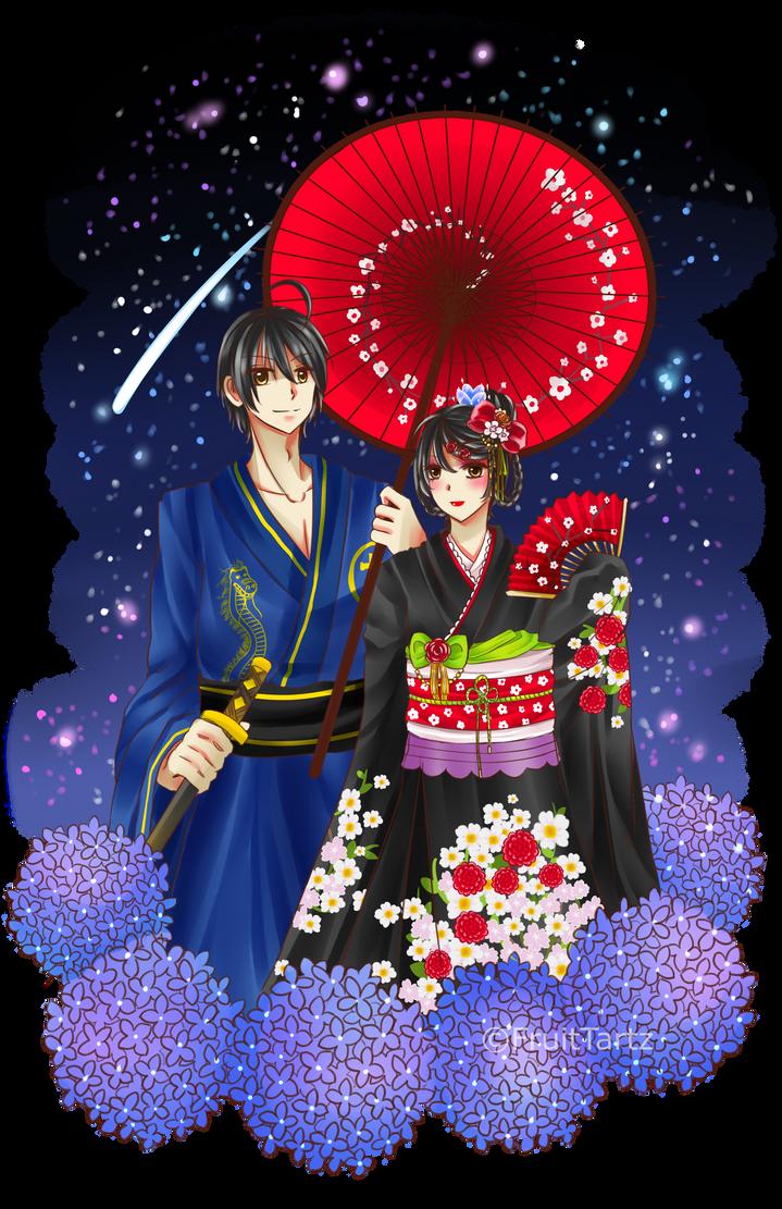 Kimono + Speedpaint by FruitTartz