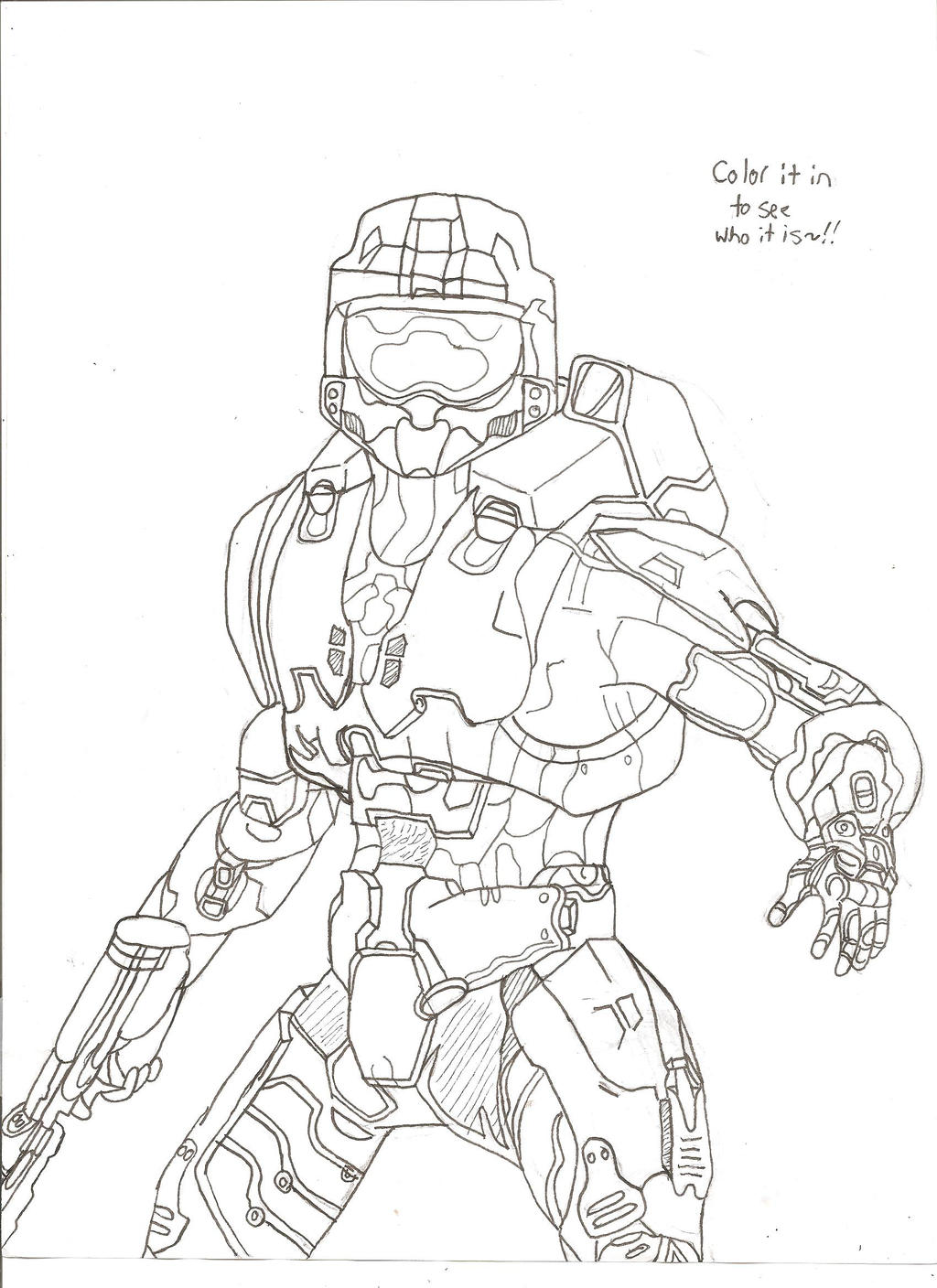 Pencil Of Halo 4 Master Chief Coloring Pages