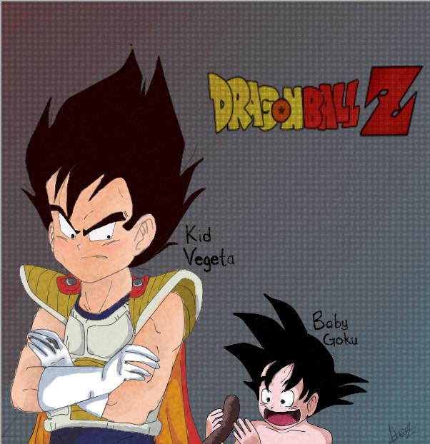 Kid Goku And Kid Vegeta Kid Vegeta and Baby Go...