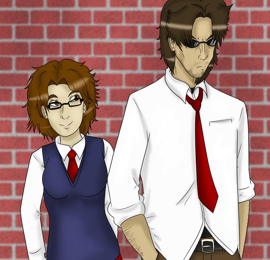 Nolan Pandora and Lizzie Primrose by SkyMaro