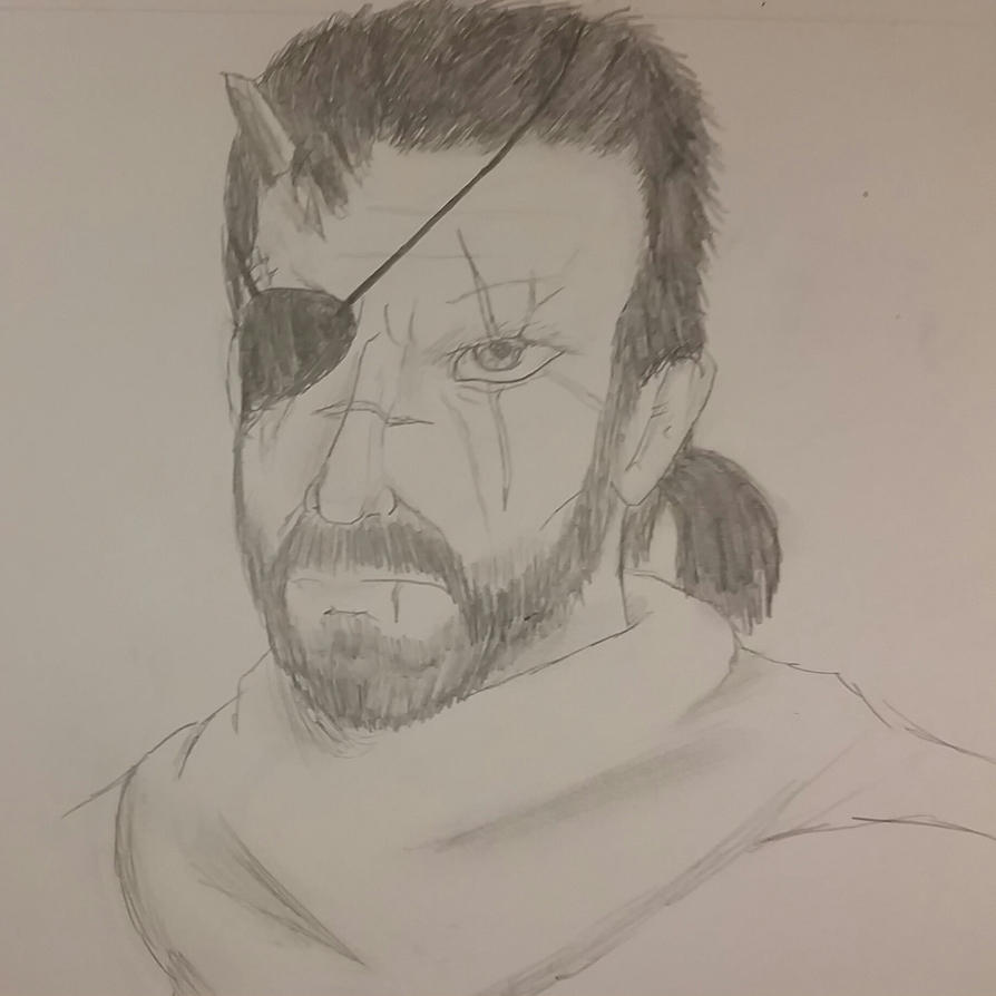 Big Boss pencil portrait by SkyMaro