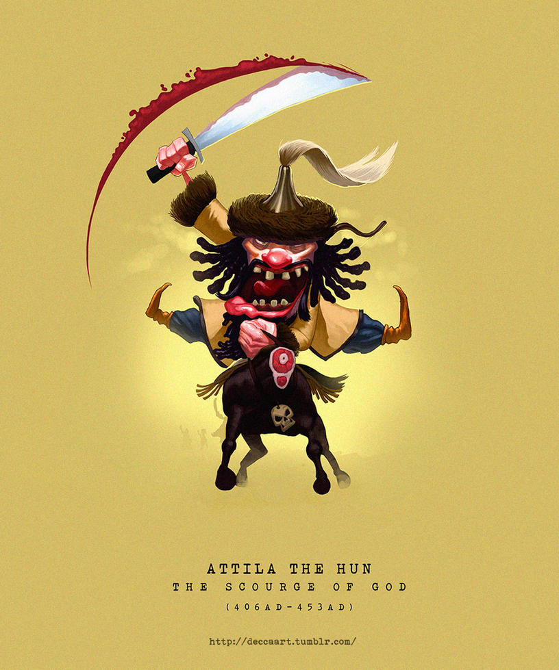 Attila The Hun by deccaart