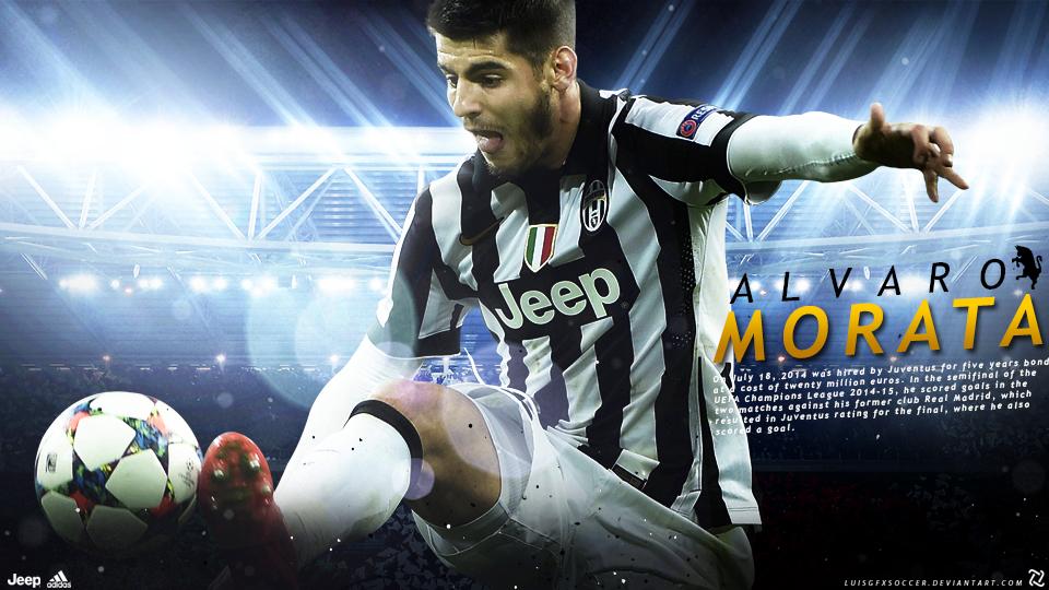 Alvaro Morata ( Juventus ) Wallpaper By LuisGFXSoccer On