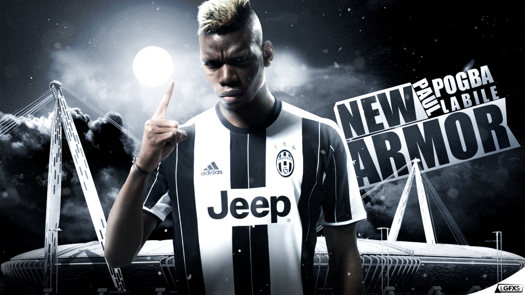 Paul Pogba Juventus Wallpaper By LuisGFXSoccer
