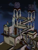 Escher Cascade by VaizardNL