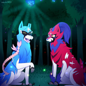 Zacian, and Zamazenta. Brother and sister.