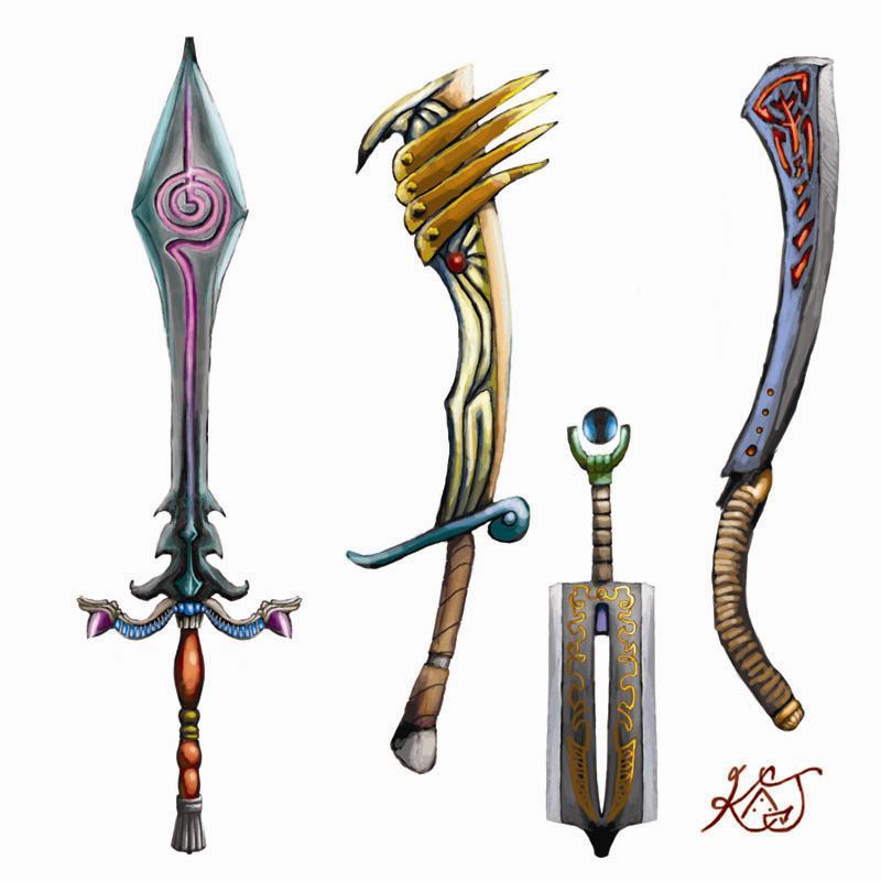 Weapon designs. by GreenAirplane on DeviantArt