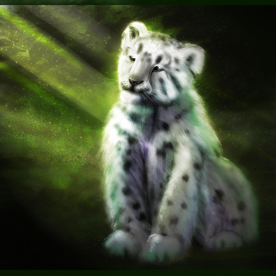 Snow Leopard Cub by MagicnaAnavi