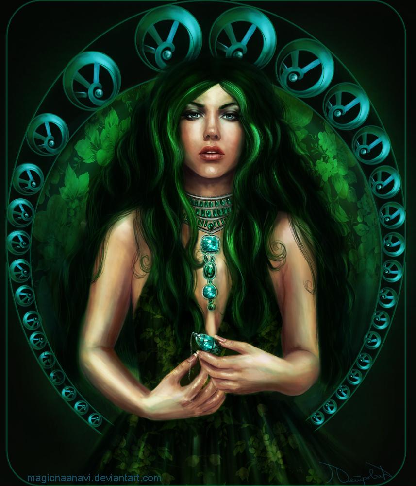 Deep Green - Emerald by MagicnaAnavi