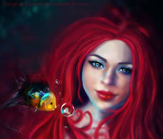 Ariel and Flounder by MagicnaAnavi