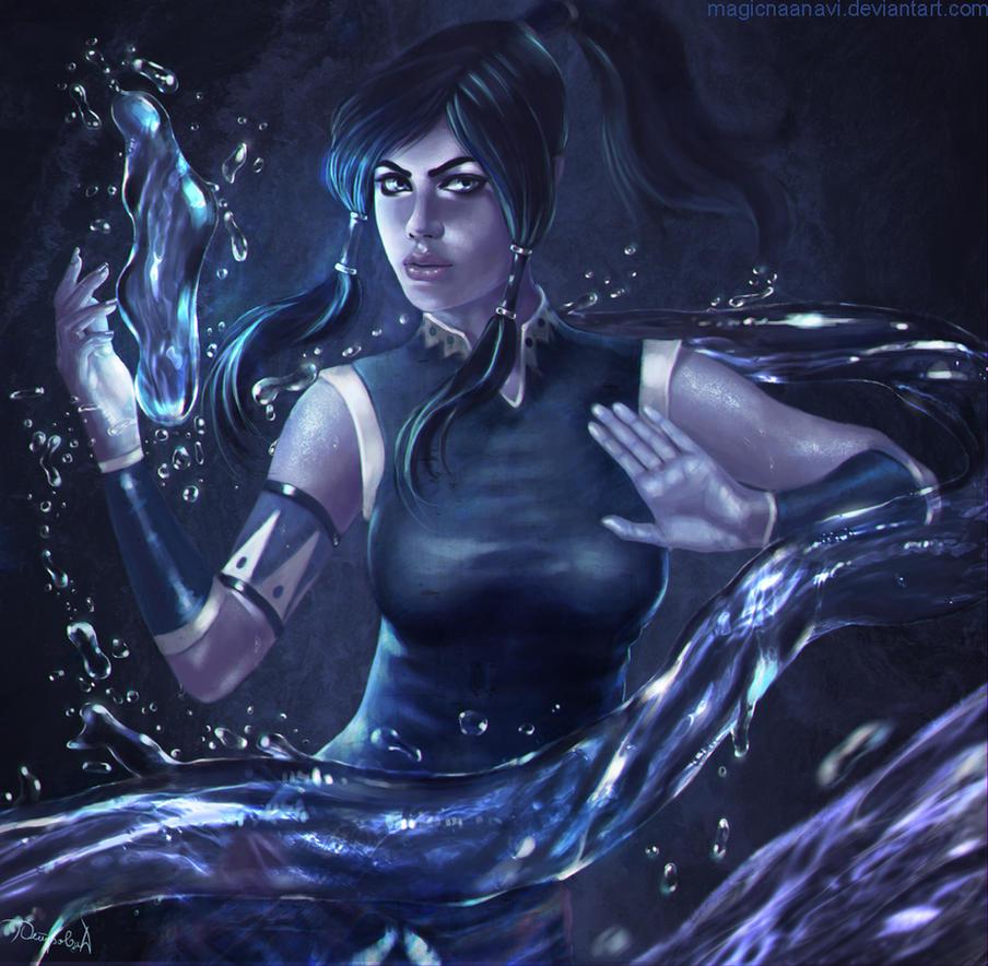 Avatar Korra - Waterbending by MagicnaAnavi
