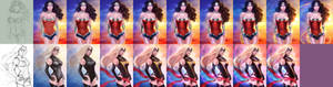Wonder Woman and Ms Marvel steps