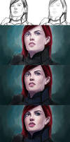 Commander Shepard steps