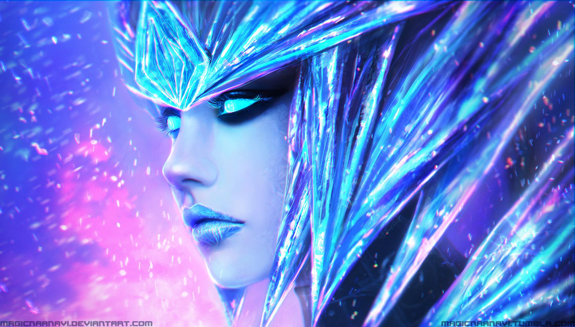 Ice Drake Shyvana by MagicnaAnavi