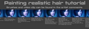 Painting realistic hair tutorial by MagicnaAnavi
