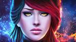 GW2 Weaver - Fiery Frost by MagicnaAnavi