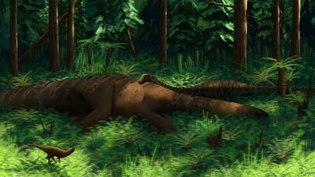 Diplodocus and Othnielosaurus