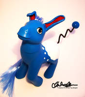 Azumarill Custom My Little Pony by thatg33kgirl
