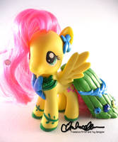 Suited for Success Fluttershy Custom MLP by thatg33kgirl