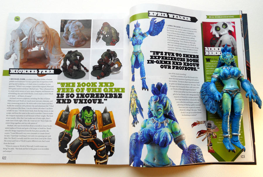 Harpy in WoW Magazine by thatg33kgirl