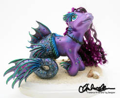 Narcissa the Merpony- Custom MLP by thatg33kgirl