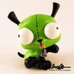 Gir from Invader Zim custom LPS by thatg33kgirl