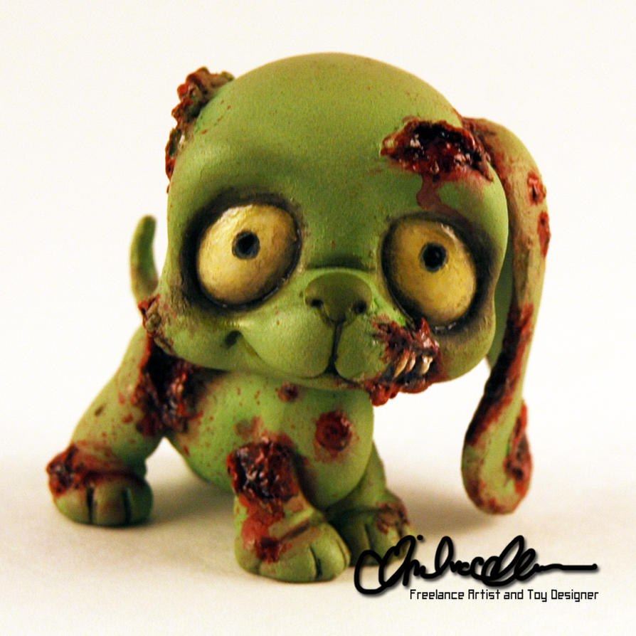 the littlest zombie pup custom lps by thatg33kgirl