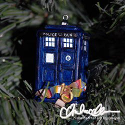 Tiny Tardis Christmas ornament by thatg33kgirl
